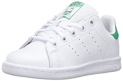 adidas Originals Kids' Stan Smith EL C Fashion Sneaker, White/White/Fairway