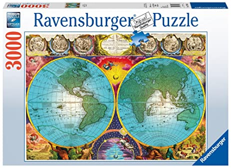 Amazon ravensburger antique map puzzle 3000 pc toys games ravensburger antique map puzzle 3000 pc gumiabroncs Images
