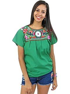 Amazon.com: Blusa mexicana Campesina Floral: Clothing