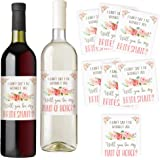 I Can't Say I Do Without You   Set of 7 Wine Bottle Labels   Bridesmaid and Maid of Honor Gift   Asking Bridesmaids   Bridesmaid Proposal   Bridal Party Favors, Ideas, and Gifts