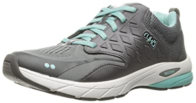 RYKA Women's Knock Out Running Shoe, Grey/Blue, ...