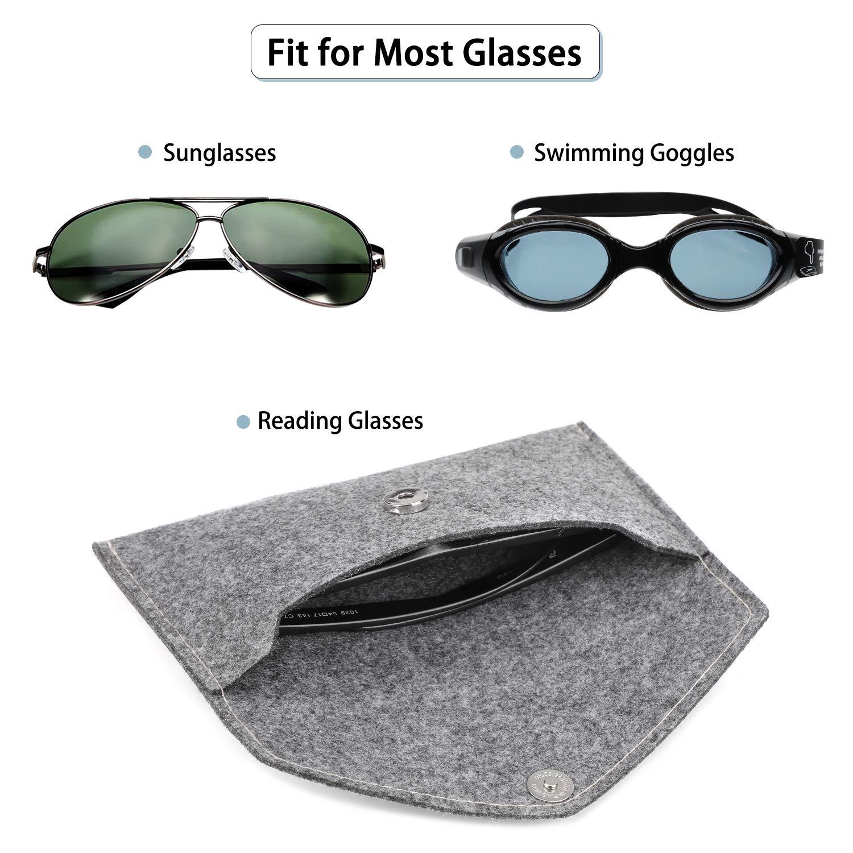 Schmuckbeutel Tragbaren Lesebrillen Beutel Tasche Brillen Sonnenbrillen Beutel Brieftasche Hifot Brillenetuis 3 St/ück