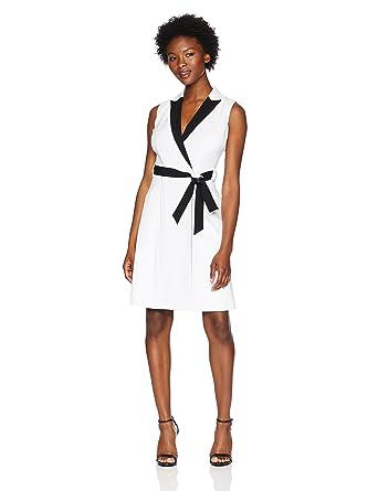 08e27c7eee64 Calvin Klein Women s Petite Sleeveless Collared Wrap Dress at Amazon  Women s Clothing store