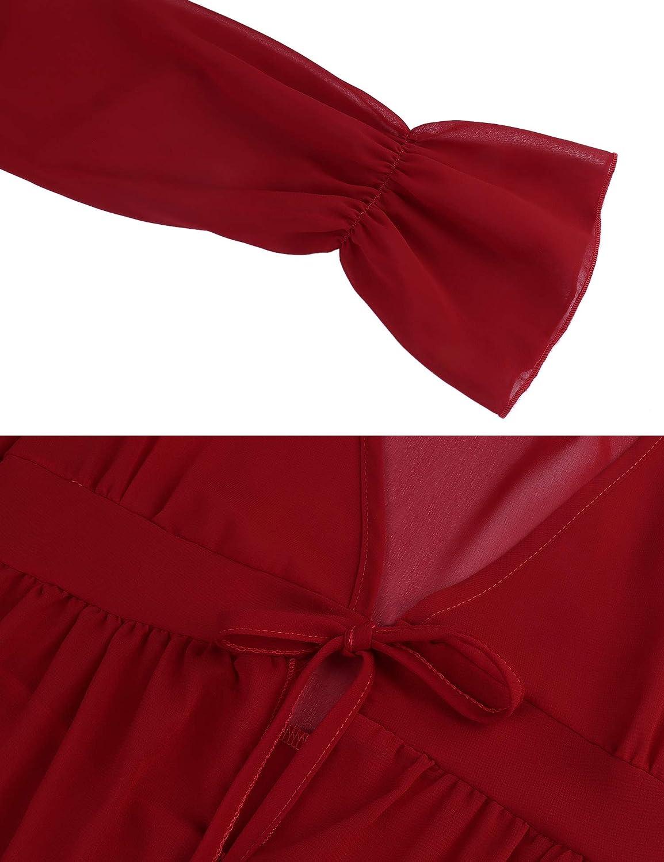 Akalnny Damen Strandkleid Bikini Cover up Kimono Lang Strand Cardigan Sommer Leichte Strickjacke Beachwear Strandponcho Chiffon Bademode Strand Shirt
