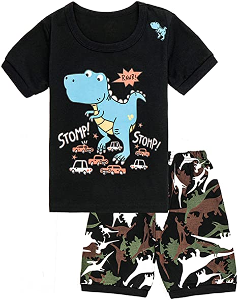 Amazon.com: WWEXU Pijama para niños de verano, conjunto ...