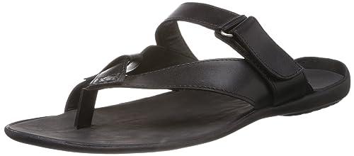 b04527afb0e7cc Mochi Men s Black Flip Flops Thong Sandals - 9 UK (16-7314)  Buy ...
