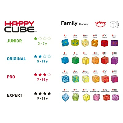 HAPPY Cube Family 24-Pack Cube Brain Teaser Puzzles_New Packaging Layout 2019: Juguetes y juegos