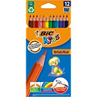 BIC Kids Evolution Colouring Pencils - Assorted Colours, Pack of 12