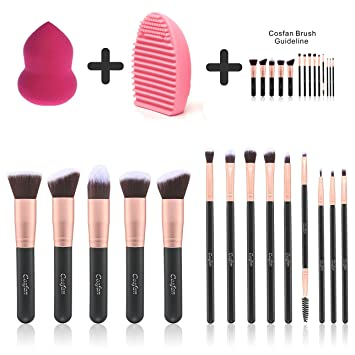 Amazon.com: Makeup Brushes Powder Foundation Concealer Eyeliner Makeup Brush Set Cosmetics Tool (14 PCS Rose Gold): Beauty