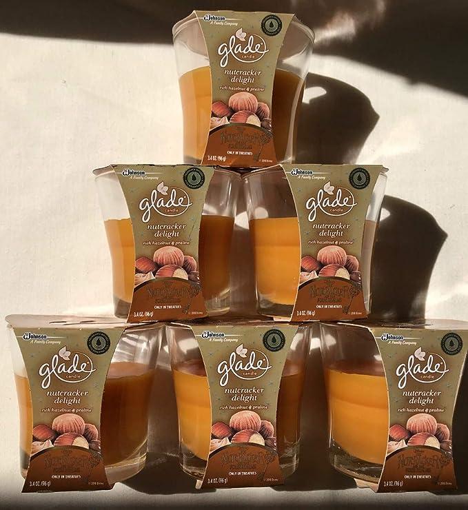 6 Glade Plugins Nutcracker Delight Rich Hazelnut Praline Scented Oil Refills