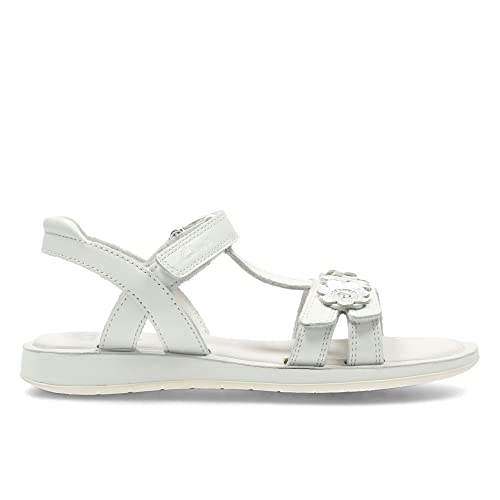 Clarks Sandalias de Vestir de Piel para Niña, Color Blanco