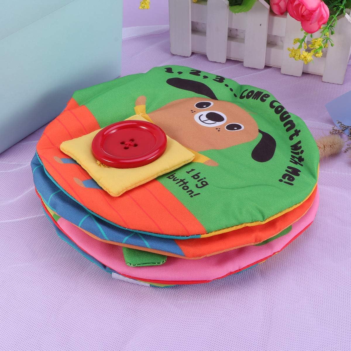 Toyvian Livre de b/éb/é en Premier Livre en Tissu pour Tout-Petits Tissu Non Toxique Livre Souple Livre /éducatif pr/écoce pour b/éb/é