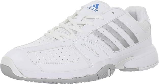 Adidas Zapatos Bercuda 2.0 Tenis, Corriendo de Plata Blanco/Metalizado/Azul Brillante, 11 M US: Amazon.es: Zapatos y complementos