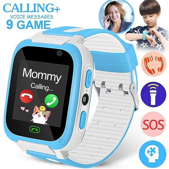 Amazon.com: Kids Phone Smart Watch with SIM Call 9 Game Camera Anti-Lost SOS Tracker 1.4