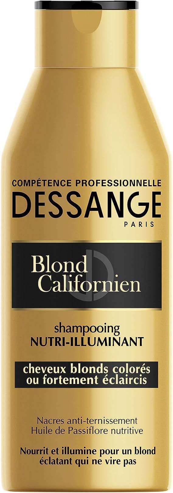 Dessange - Blond Californien Champu nutri-iluminante para cabellos rubios, tenidos o muy aclarados, 250 ml