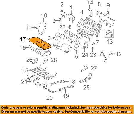 Left Front Honda Genuine 81531-SH5-A41ZA Seat Cushion Trim Cover