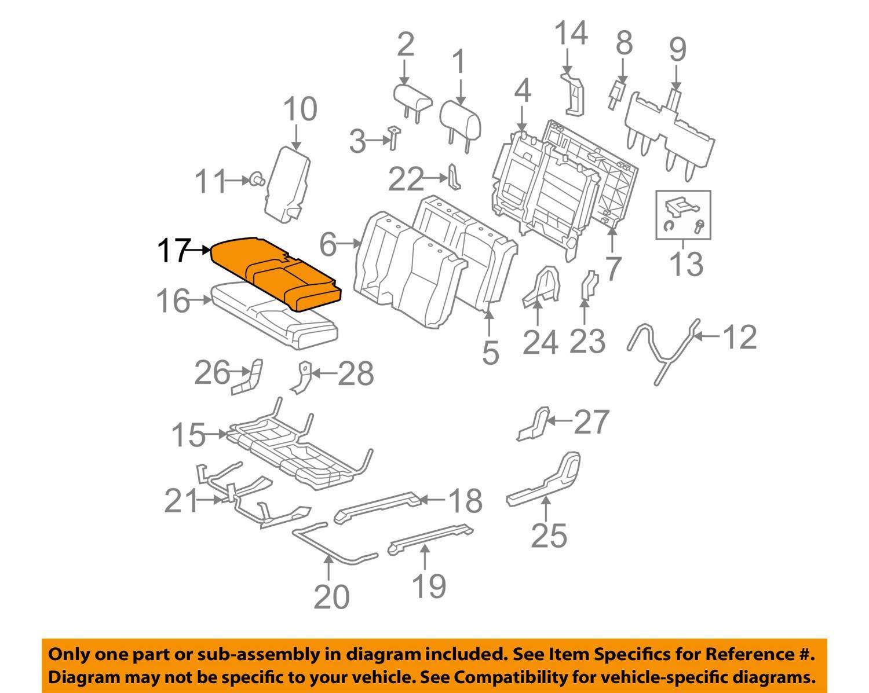TOYOTA Genuine 71076-0C241-B2 Seat Cushion Cover