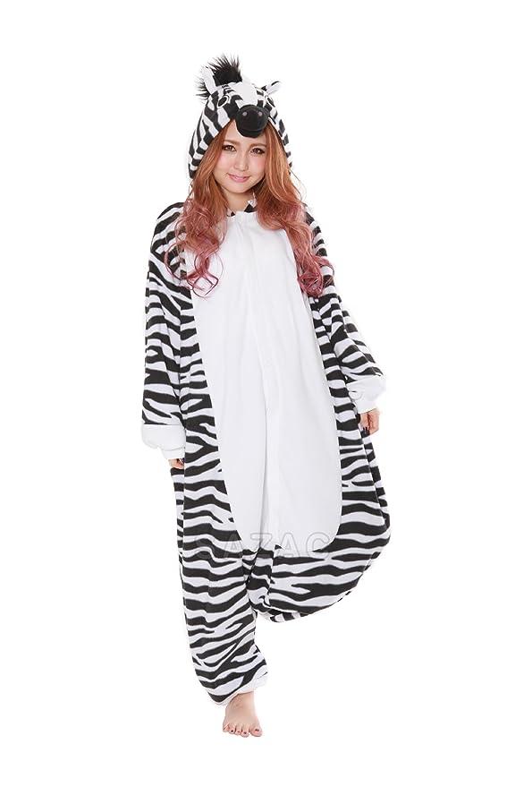 sc 1 st  Amazon.com & Amazon.com: Zebra Kigurumi - Adult Costume: Clothing