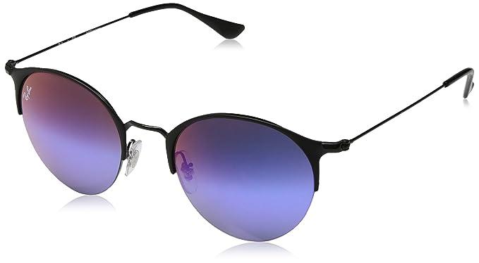Ray-Ban Rayban Unisex-Erwachsene Sonnenbrille 3578, Matte  Black Greenmirrorbluegradientvio, 50 fa6fb2683806