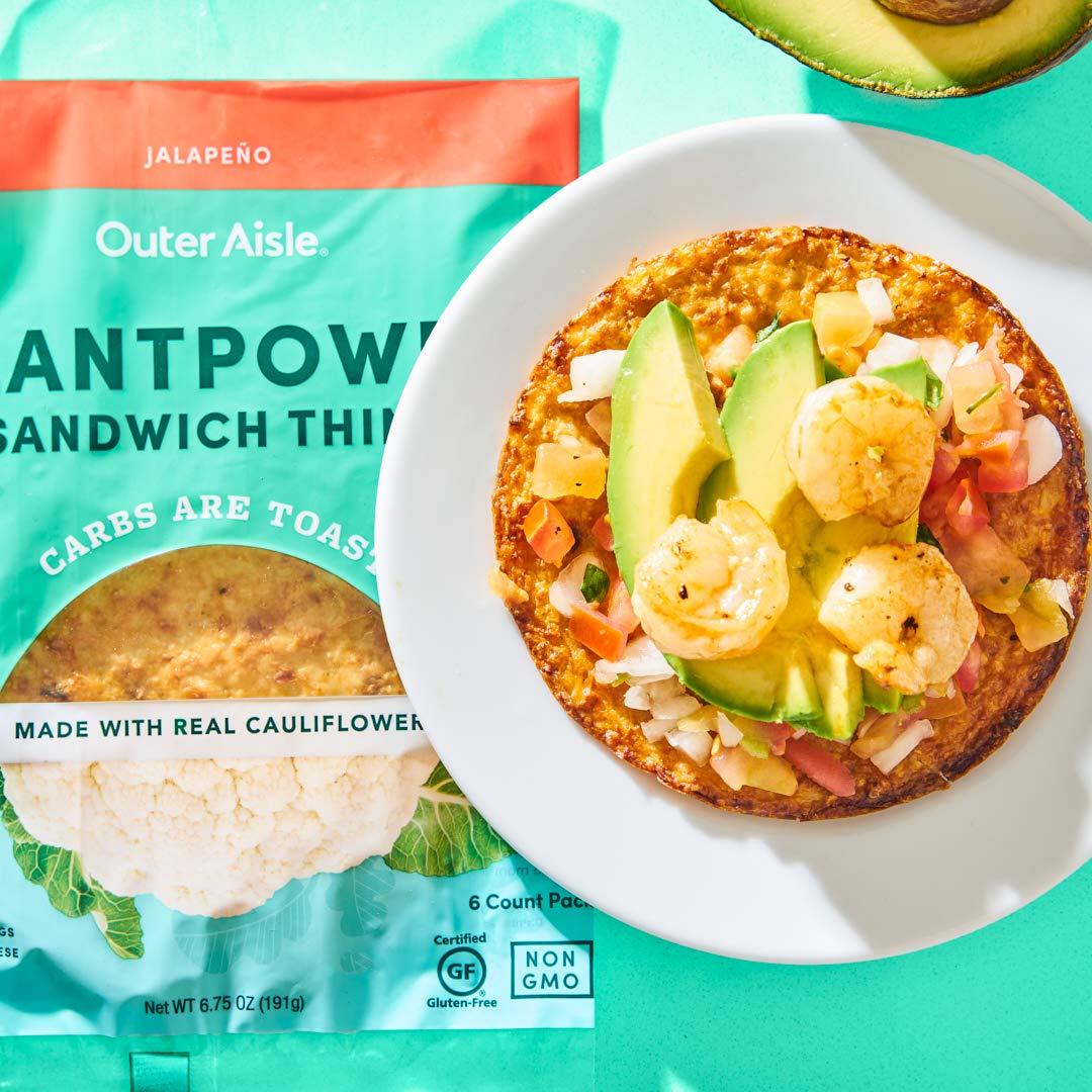 Outer Aisle Pan de coliflor gourmet bajo en carbohidratos ...