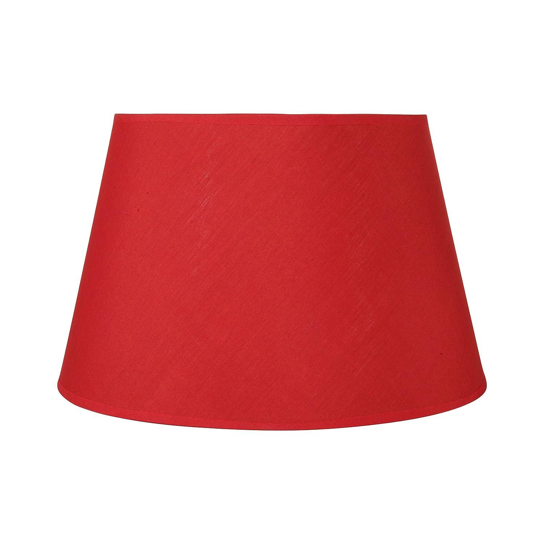 Sema 97211 Abat-jour rond Texture/Tissu Rouge Sema Design