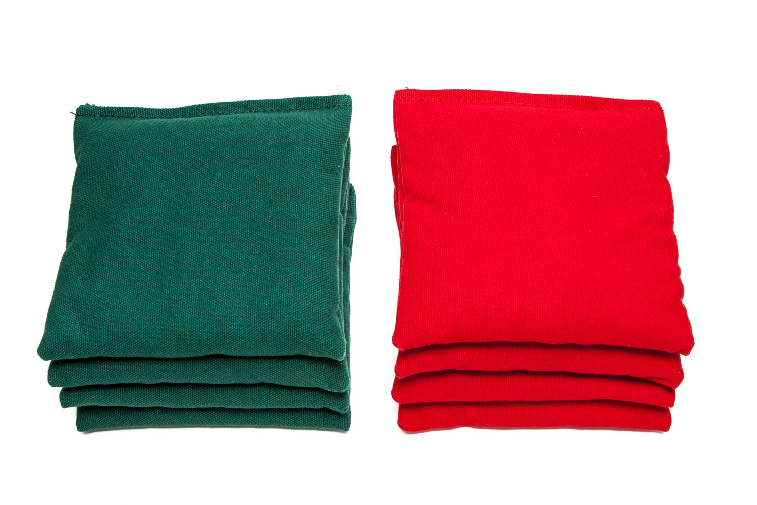 Weather Resistant Cornhole Bags (Set of 8) by SC Cornhole (Red/Hunter Green) by SC Cornhole Games