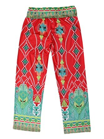 Toyobuy Pantalon à Fleur Femme Larges Jambes Ample pour Plage Yoga Sport  Fluide Eté Tour Taille a4cbd539cd44