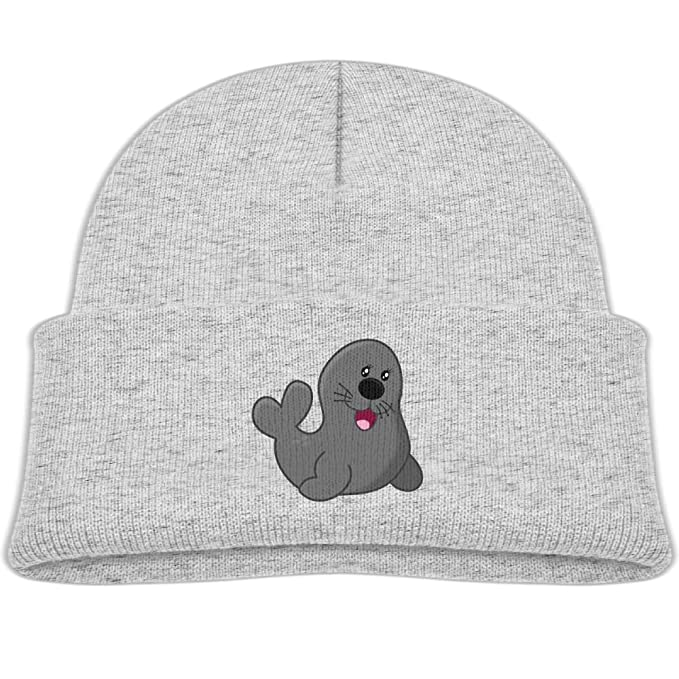 cfd2eb6c64b Amazon.com  Beanie Cap Happy Baby Seal Soft Knit Hat Baby Girls ...