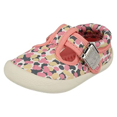 b68c82fe558c Clarks Girls Seasonal Choc Cake Textile Summer Shoe In Pink Multi Standard  Fit Size 2