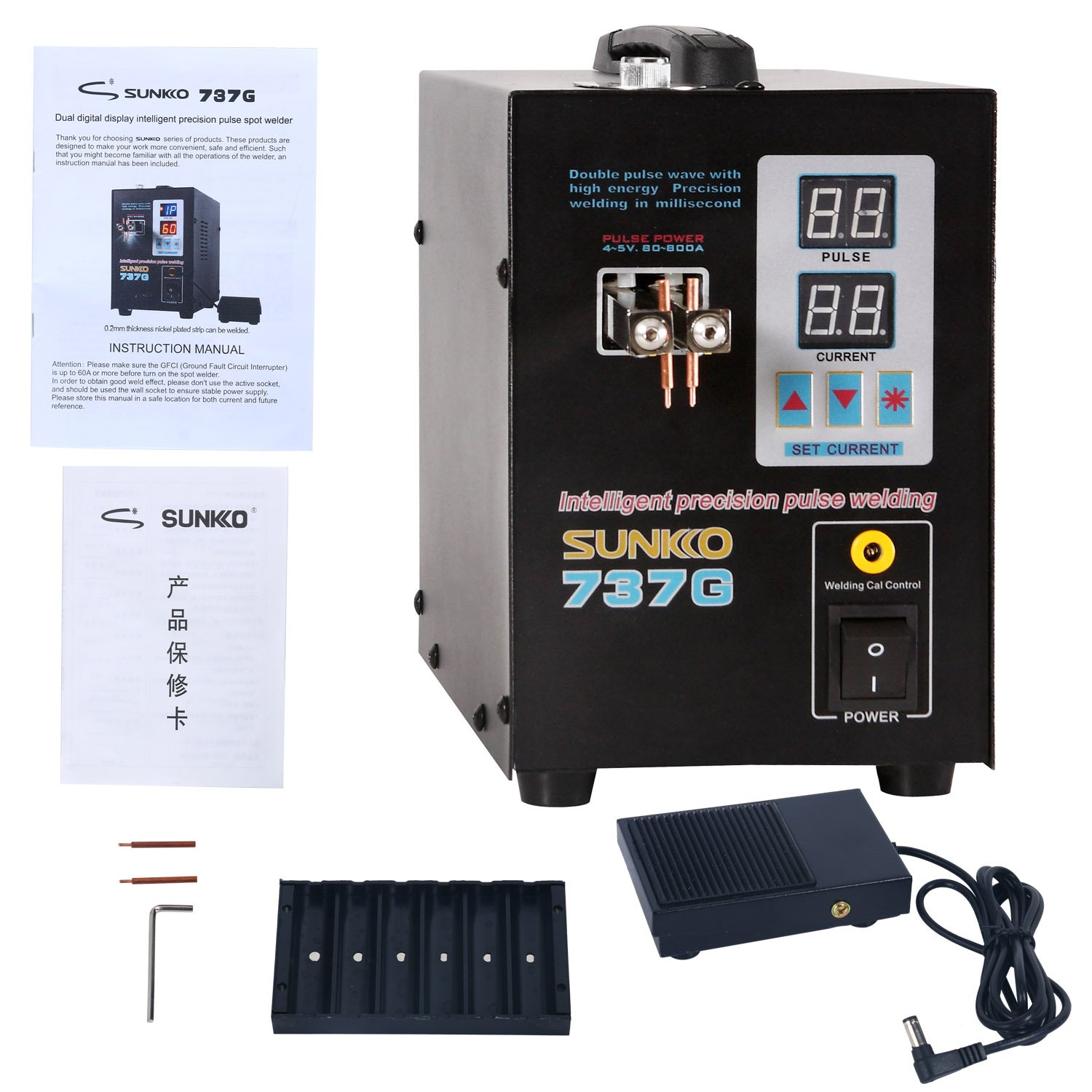 Handhold YaeCCC 737G Battery Spot Welder with Pulse & Current Display 1.5 kw by YaeCCC