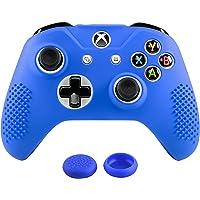 Xbox One S / X Funda Silicona + 2 Grips Texturizados (Azul)