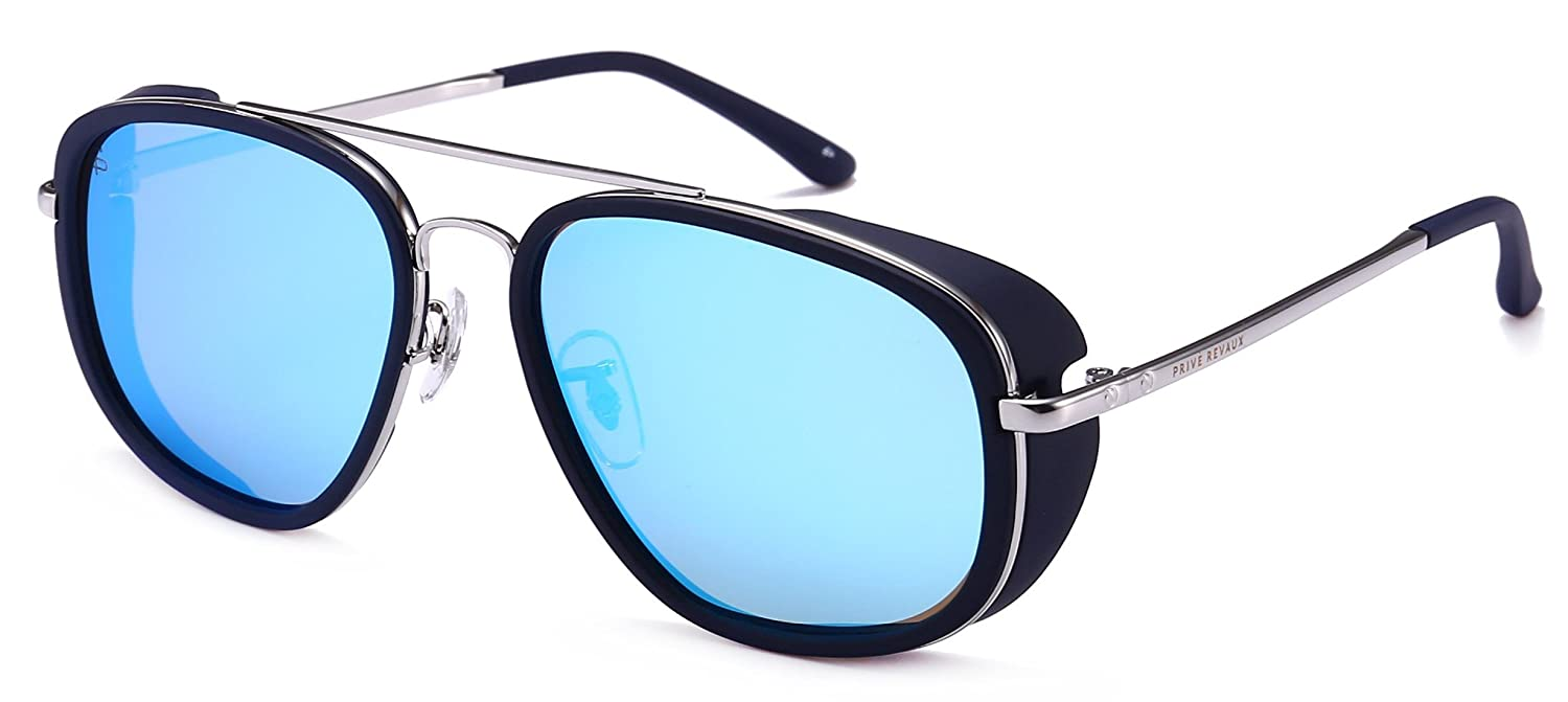 PRIVE REVAUX The Explorer Handcrafted Designer Rider Polarized Sunglasses (Blue) 2jb9NKMzoX