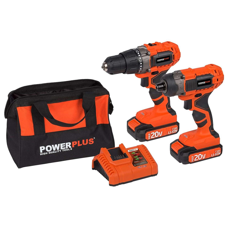 POWERPLUS POWDP1550 - Taladro/atornillador 20v+atornillador ...
