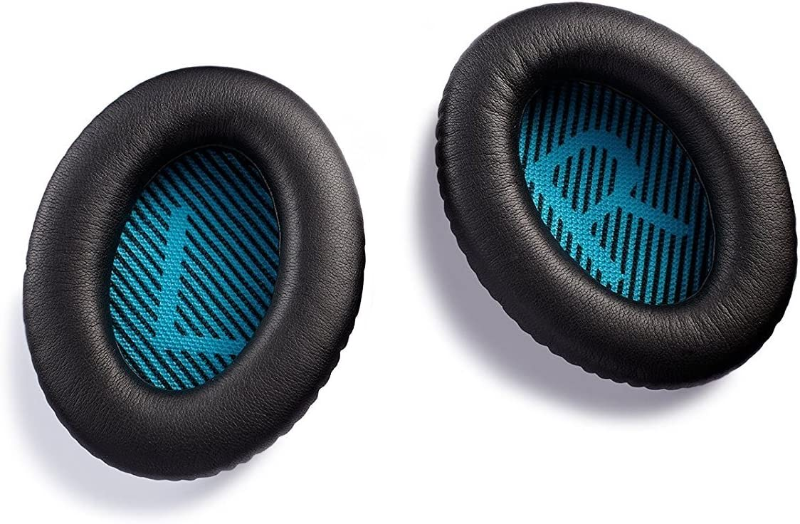 Black AURTEC Headphones Earpads Cushion with Memory Form and Protein Leather Replacement Ear Pads for Bose QuietComfort QC25