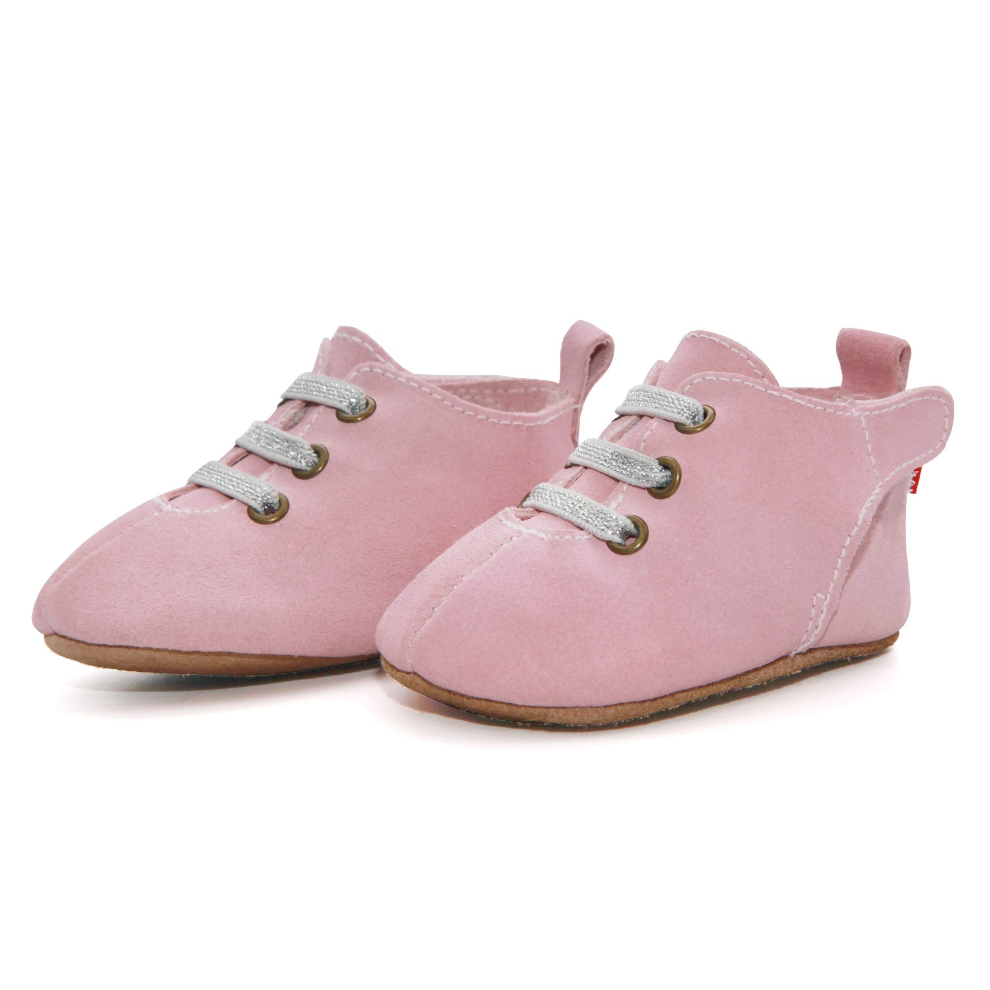 Zutano Leather Oxford Baby Shoes, Non-Slip Soft Soles, Unisex, for Infants, Babies, and Toddlers, Hot Pink, 18M-24M by Zutano