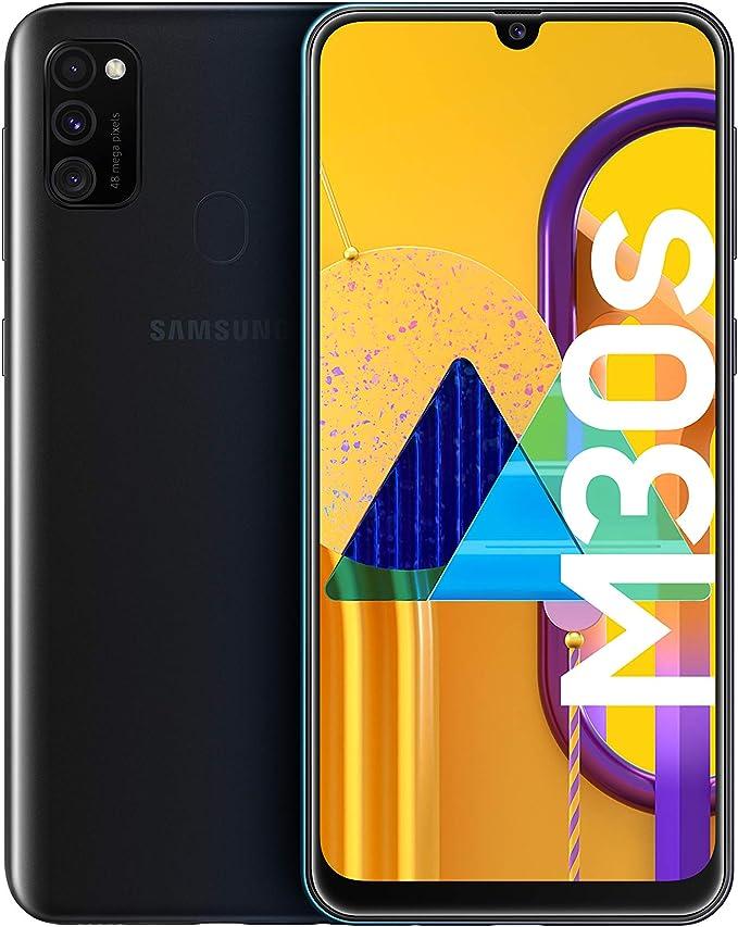 Samsung Galaxy M30s - Smartphone Dual SIM, pantalla 16.21 cm sAMOLED FHD+, camara 48MP, 4 GB RAM, 64 GB ROM, bateria 6000 mAH, Android, negro [Versión española, Exclusivo Amazon]: Amazon.es: Electrónica