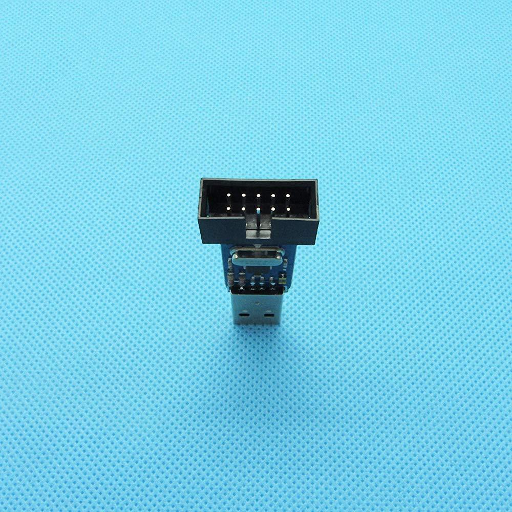 1 Set USBASP+10Pin to 6Pin Adapter USBASP USBISP AVR Programmer USB ATMEGA8 ATMEGA128 IDC10 51 Serial Win.7 with Download Cable