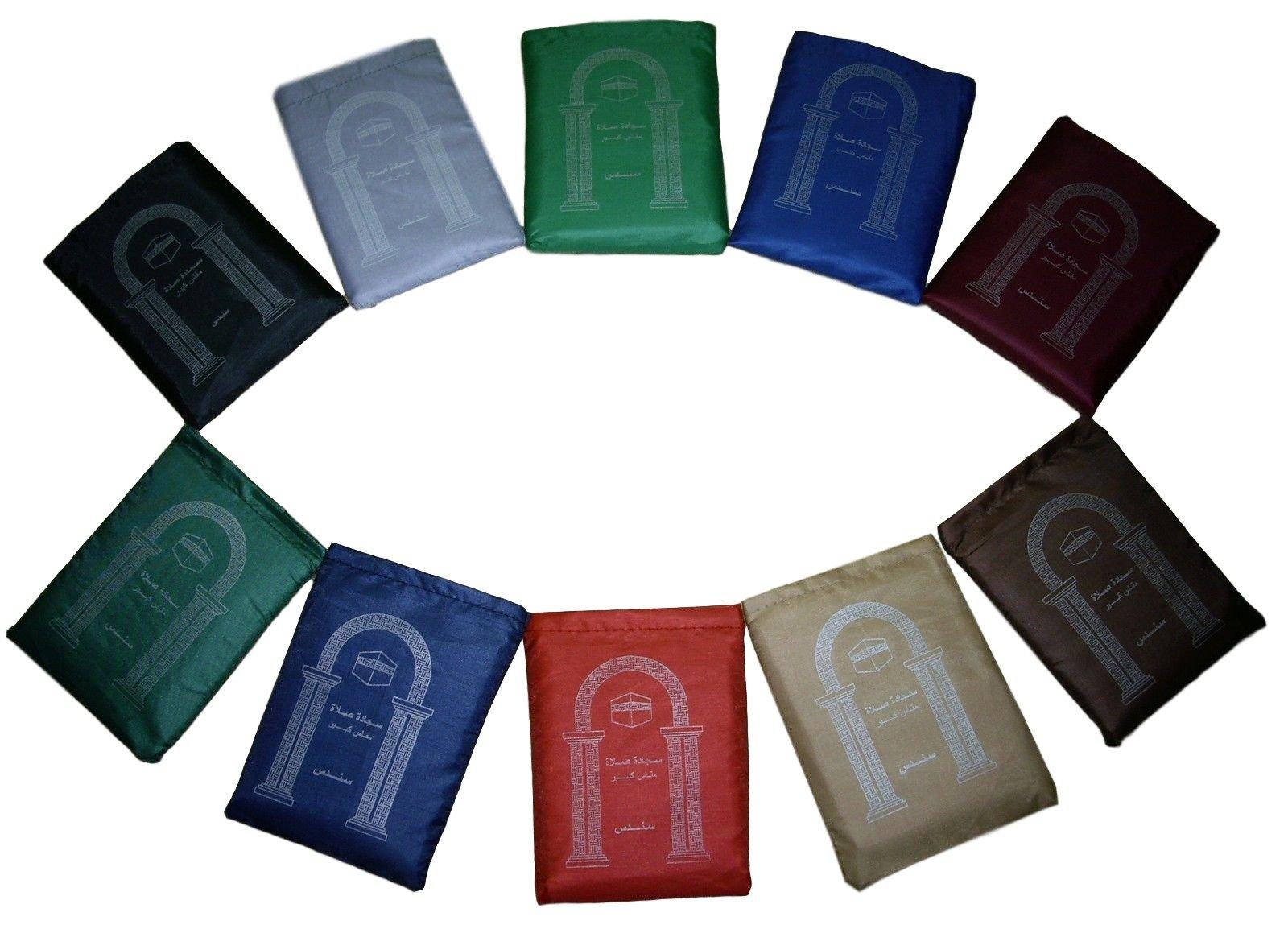Sondos 14 Pocket Prayer Rug Mat Travel portable Islamic Outdoors Musallah Carpet Muslim by Sondos
