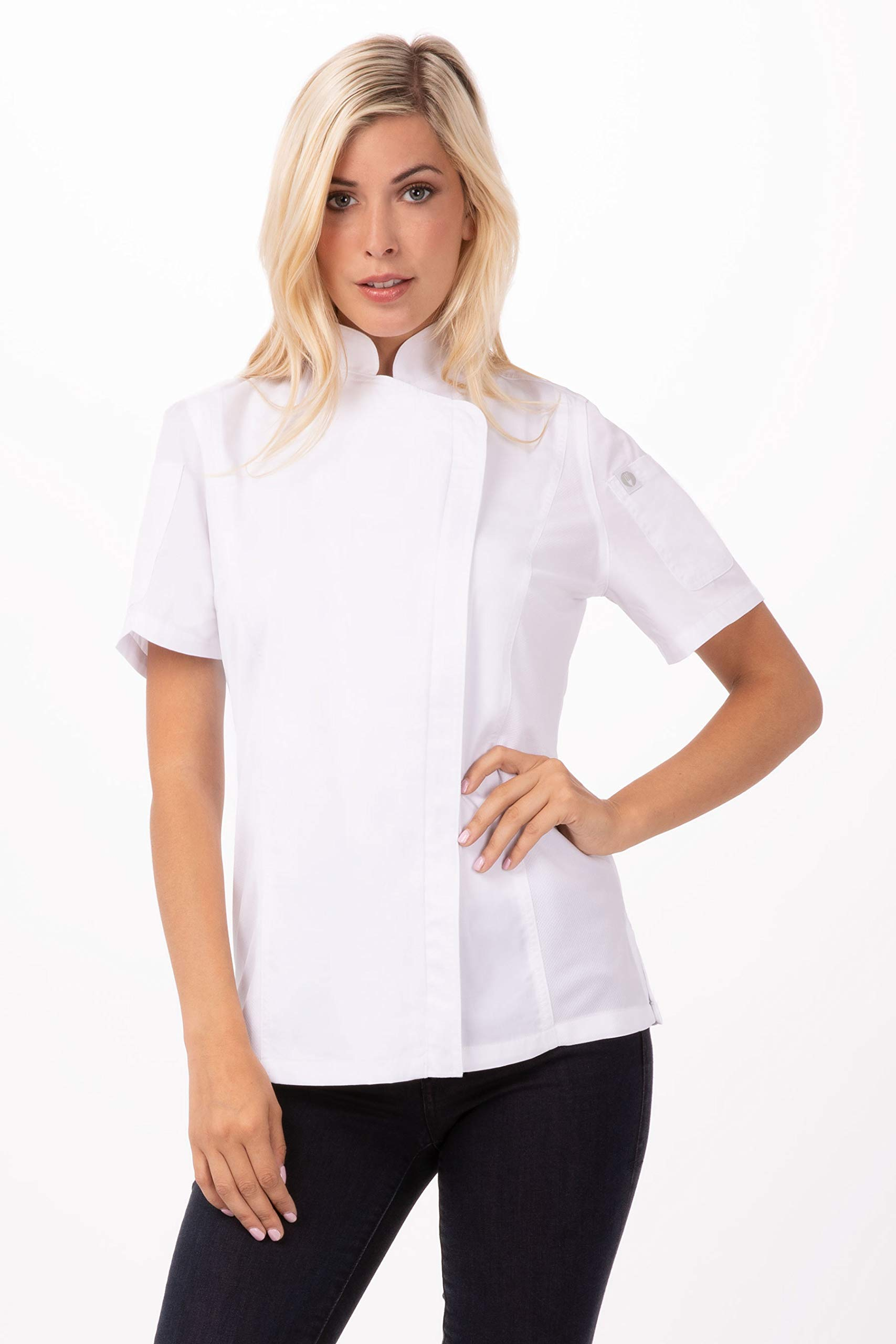 Chef Works Women's Springfield Chef Coat, White, 2X-Large by Chef Works