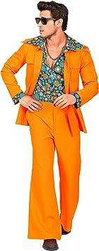 WIDMANN 09404 - Disfraz de años 70 para hombre, color naranja ...