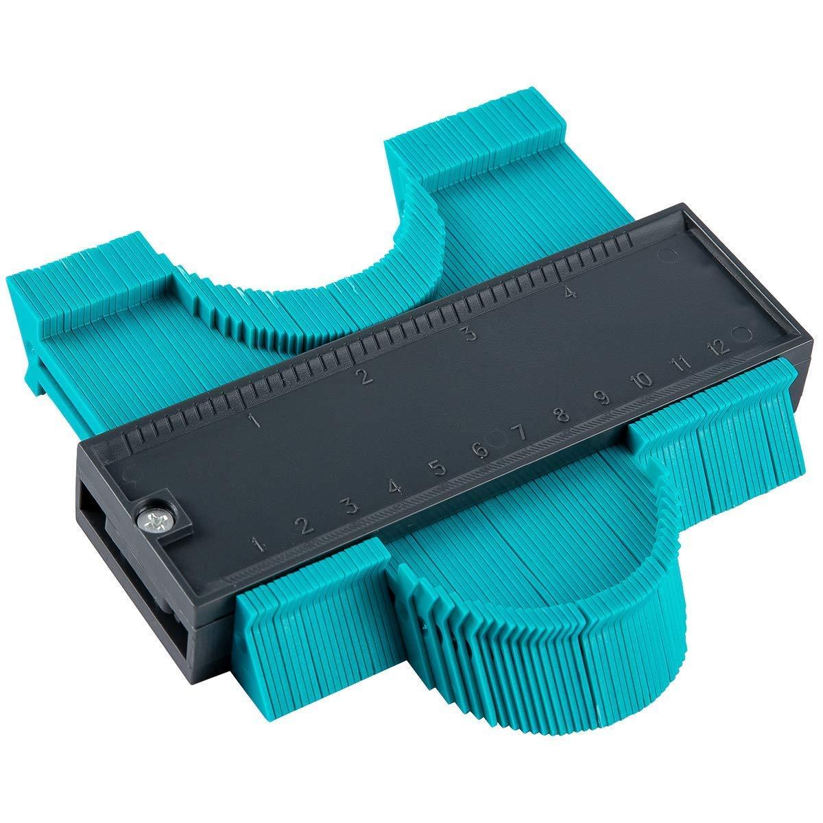Alliebe Strumento di Misurazione//Irregolare Profile Misuratore Copia Calibri Guida per Contorni Duplicatore Profilometro,5 pollici//125 mm
