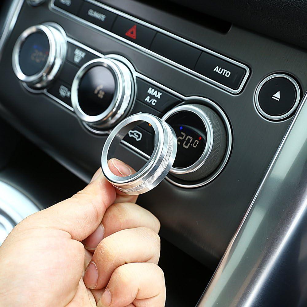 4 Stücke Für Roverrange Sport Vogue Autobiographie 14 17 Auto Klimaanlage Knopf Audio Kreis Trim Aluminium Auto