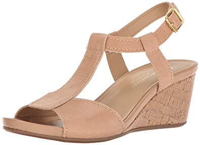 5cce3e185bc249 Naturalizer Women s Camilla Wedge Sandal Ginger 6.5 ...