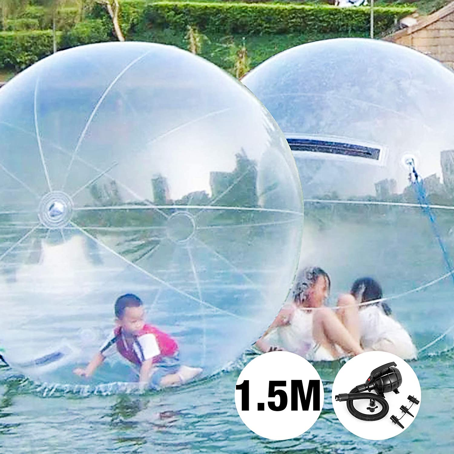 VEVOR Bubble Soccer Pelota de Burbuja Zorb Ball Bola Inflable Pelotas Hinchables Gigantes Bubble Ball Bubble Football 1.5 M Transparente