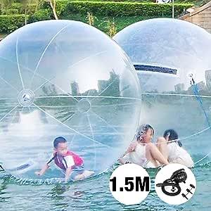 VEVOR Bubble Soccer Pelota de Burbuja Zorb Ball Bola Inflable Pelotas Hinchables Gigantes Bubble Ball Bubble Football 1.5 M Transparente: Amazon.es: Juguetes y juegos