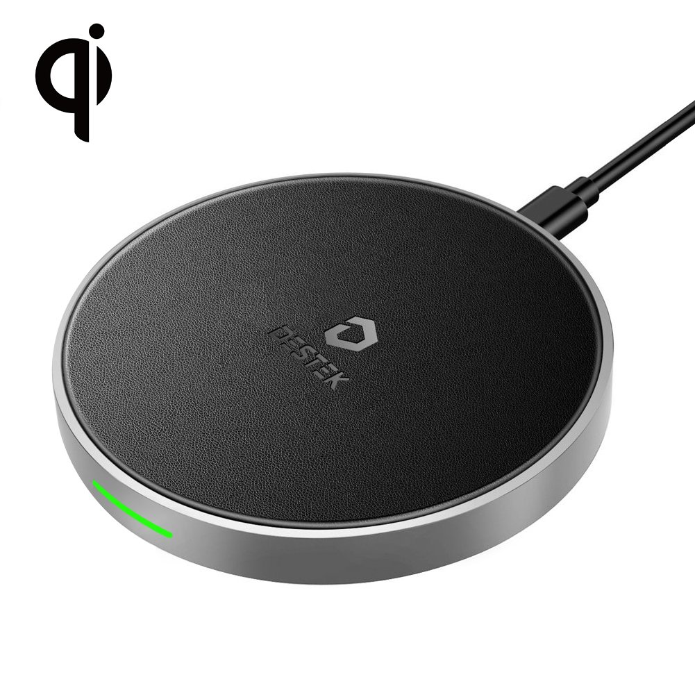 DESTEK Fast Wireless Charger for iPhone X,7.5W Wireless Charging Pad for iPhone X/8/8 Plus,10W for Samsung Galaxy S9/S9 Plus/Note 8/S8/S8 Plus, 5W for All Qi-Enabled Phones(Not with Adapter)