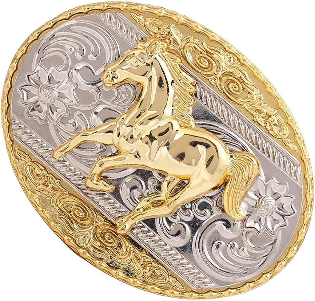 Horse Head Western Cowboy Rodeo Gold Large Belt Buckle Men Women Cowgirl Texans.