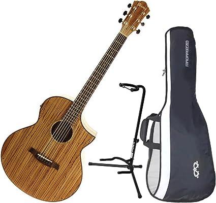 Ibanez exótico madera aew40zw-nt Electroacústica guitarra w/funda ...