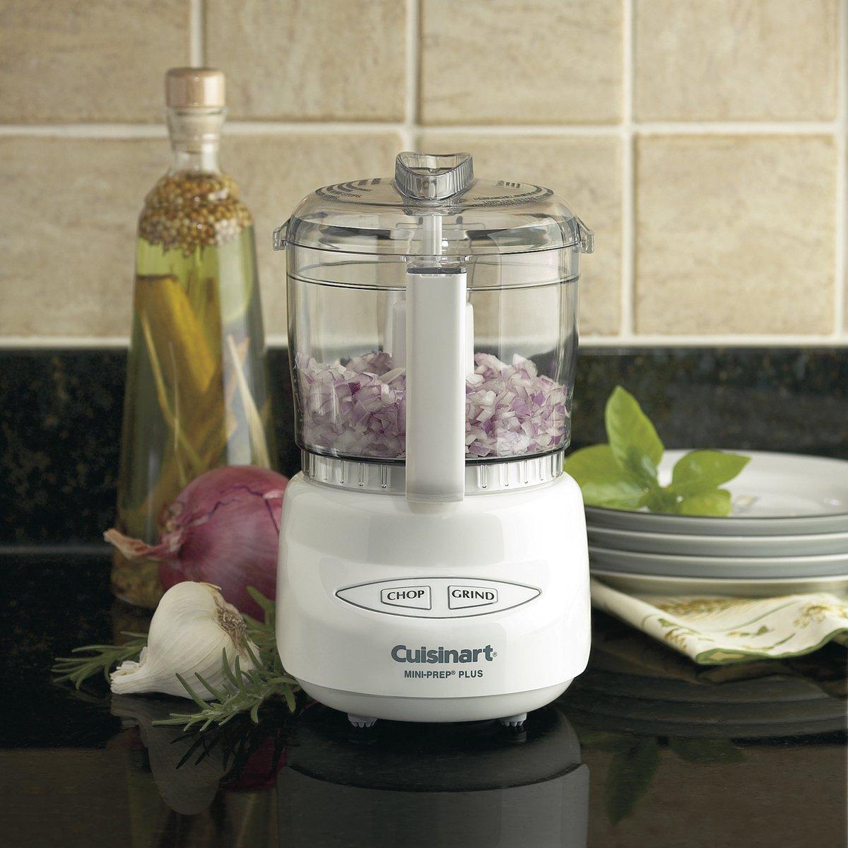 White Cuisinart DLC-2AC Mini-Prep Plus Processor Food Processors ...