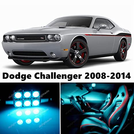 14pcs LED Premium ICE Blue Light Interior Package Deal For Dodge Challenger  2008 2017